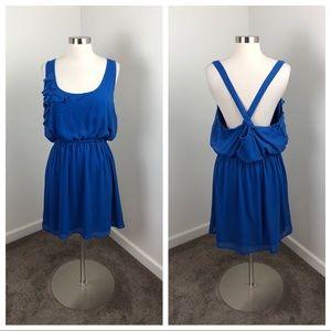 Xhilaration cobalt blue ruffle dress